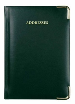 COLLINS CLASSIC A5 ADDRESS BOOK in Black