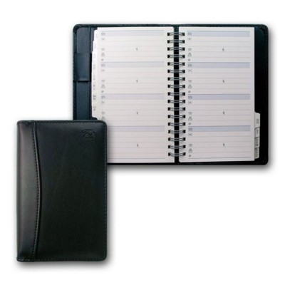 COLLINS ELITE SLIM PHONE ADDRESS BOOK in Black