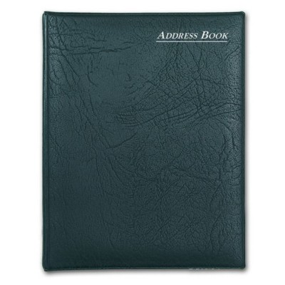 COLLINS SPIRAL WIRO BOUND ADDRESS BOOK in Black