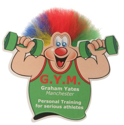 KEEP FIT ADMAN CHARACTER with Full Colour Print