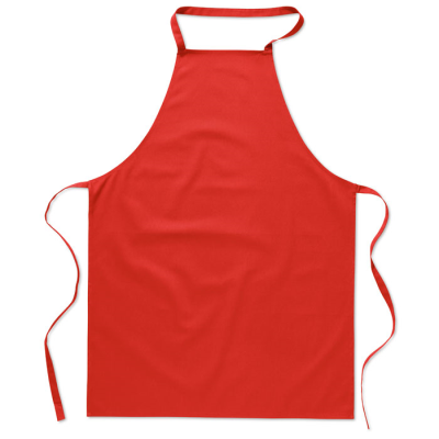 KITCHEN APRON in Red