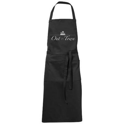 VIERA APRON with 2 Pockets in Black Solid