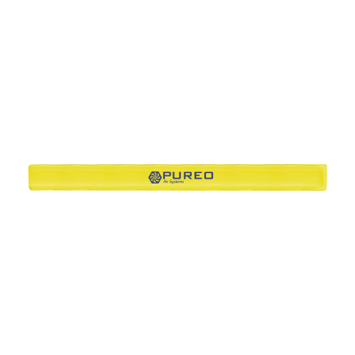 PLASTIC REFLECTIVE SNAP WRAP NEON FLUORESCENT ARM BAND in Yellow