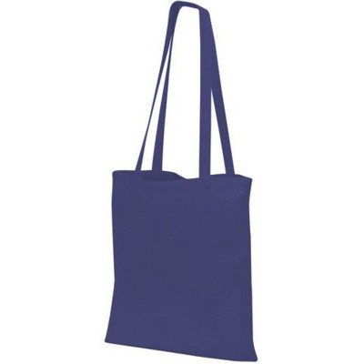 GUILDFORD COTTON SHOPPER TOTE SHOULDER BAG in Navy Blue