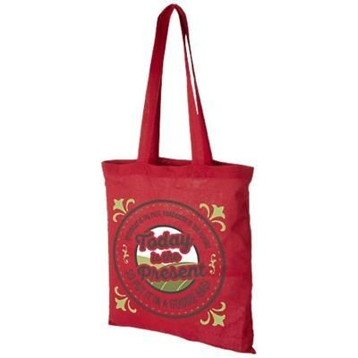 MADRAS 140 G-M² COTTON TOTE BAG in Red
