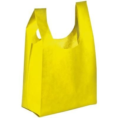 NON WOVEN SHOPPER TOTE BAG in Yellow