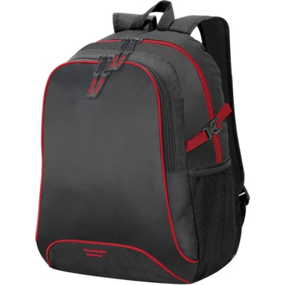 OSAKA BACKPACK RUCKSACK in Black & Red