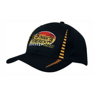 BREATHABLE POLY TWILL BASEBALL CAP with Small Check Patterning
