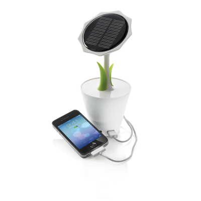 SOLAR SUNFLOWER CHARGER in White