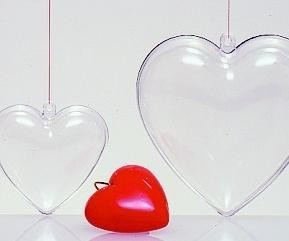 PROMOTIONAL PERSPEX HEART BAUBLE