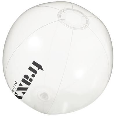 IBIZA CLEAR TRANSPARENT BEACH BALL in Transparent Clear Transparent