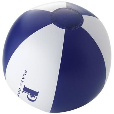 PALMA SOLID BEACH BALL in Navy-white Solid