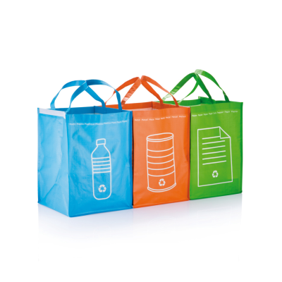 3PCS RECYCLE WASTE BAGS in Green