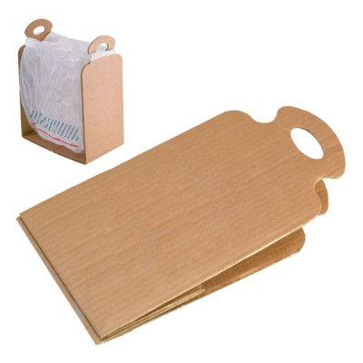 CARDBOARD CARD RUBBISH BAG HOLDER