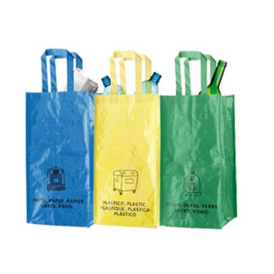LOPACK SET OF THREE LAMINATED NON-WOVEN BAG