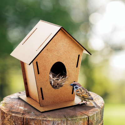 TOMTIT WOOD BIRD HOUSE