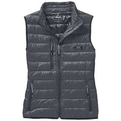 FAIRVIEW LIGHT DOWN LADIES BODYWARMER in Steel Grey