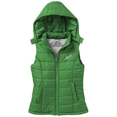 MIXED DOUBLES LADIES BODYWARMER in Bright Green