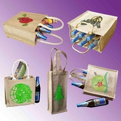 TATTON JUTE BOTTLE GIFT BAG