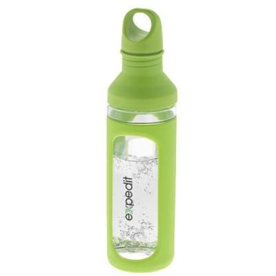 HOVER 590 ML GLASS SPORTS BOTTLE in Green-transparent