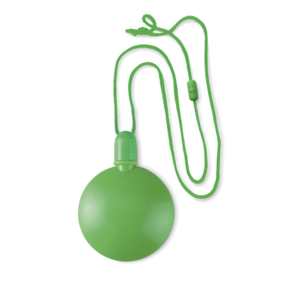 ROUND BUBBLE BLOWER with Hanger Safetycord in Lime