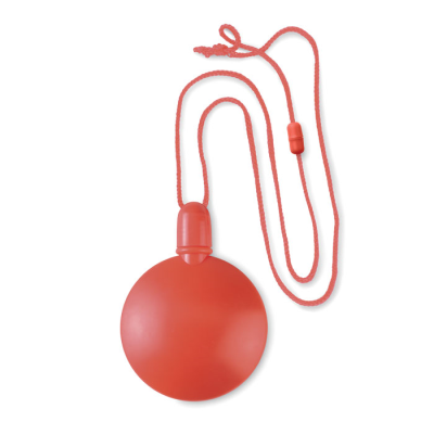 ROUND BUBBLE BLOWER with Hanger Safetycord in Red