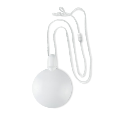 ROUND BUBBLE BLOWER with Hanger Safetycord in White