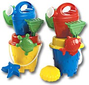 CHILDRENS CASTLE BEACH BUCKET & SPADE SET