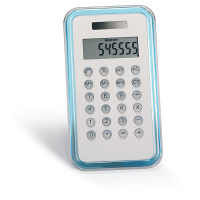 8 DIGIT CALCULATOR in Translucent Blue