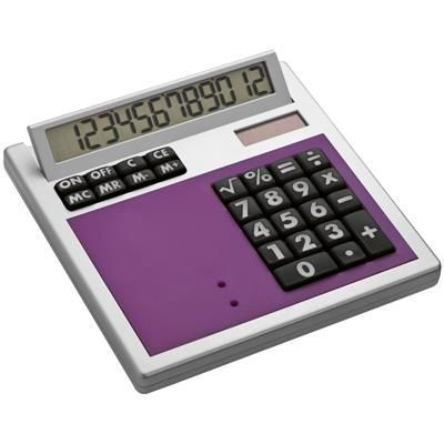 CRISMA OWN DESIGN CALCULATOR with Insert in Violet