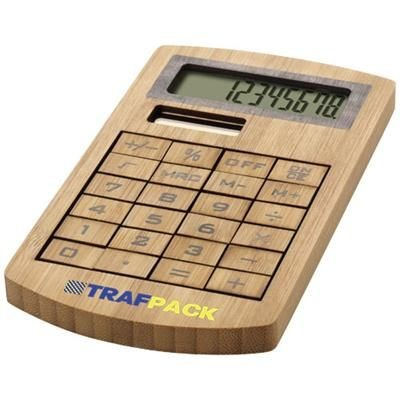 EUGENE CALCULATOR MADE OF BAMBOO in Wood