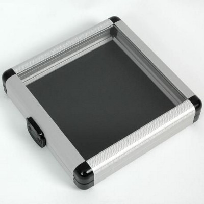 CD HOLDER CASE in Black with Clear Transparent Lid