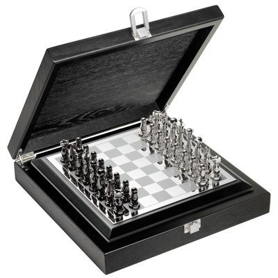 METAL CHESS BOARD in Silver