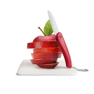 BIRDIEMIAMIAM CERAMIC POTTERY KNIFE BLADE AND CUTTING BOARD