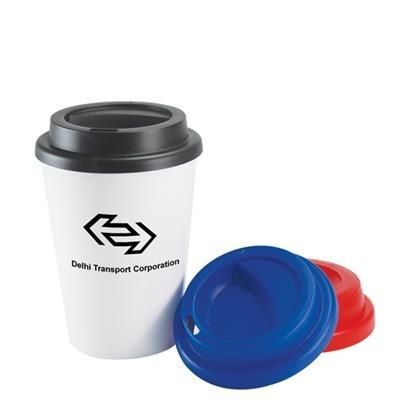 PLASTIC DOUBLE WALL TAKE OUT COFFEE CUP 12OZ-340ML