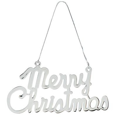 MERRY santa PENDANT DECORATION in Silver Metal