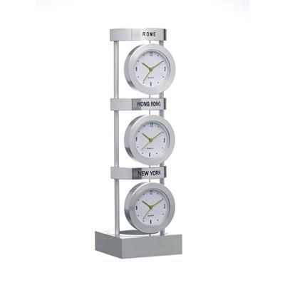 3 CITY CLOCK in Silver