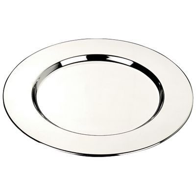 SMOOTH SILVER CHROME METAL COASTER SET