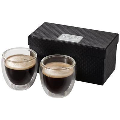 BODA 2-PIECE GLASS ESPRESSO CUP SET in Clear Transparent