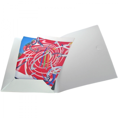 POLYPROPYLENE CONFERENCE FOLDER in Frosted White
