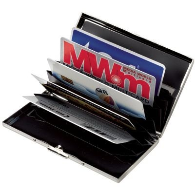 CREDIT CARD HOLDER in Silver Chrome Metal