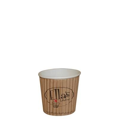 4OZ RIPPLED PAPER CUP in Full Colour