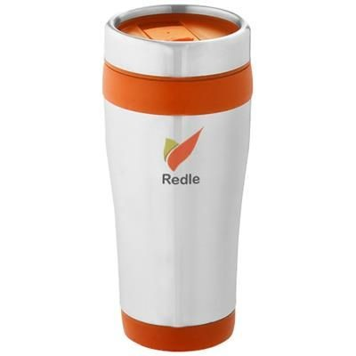 ELWOOD 410 ML THERMAL INSULATED TUMBLER in Silver-orange