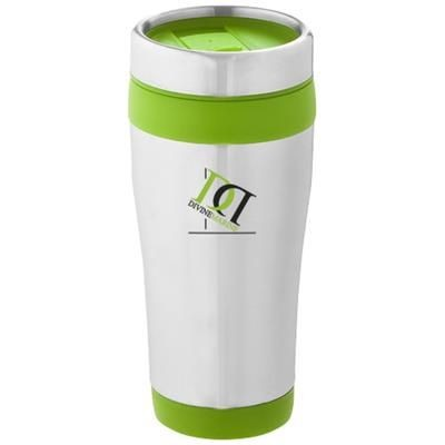 ELWOOD THERMAL INSULATED TUMBLER in Silver-lime Green
