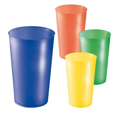 FROSTED COLOUR PLASTIC DRINK CUP