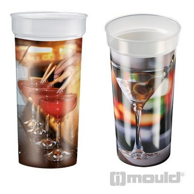 IMOULD BRANDED PLASTIC DRINK CUP in Clear Transparent
