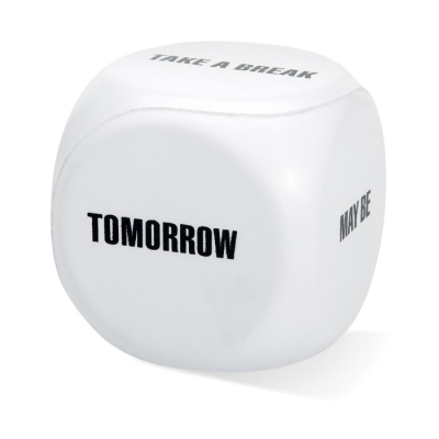 STRESS DECISION DICE in White