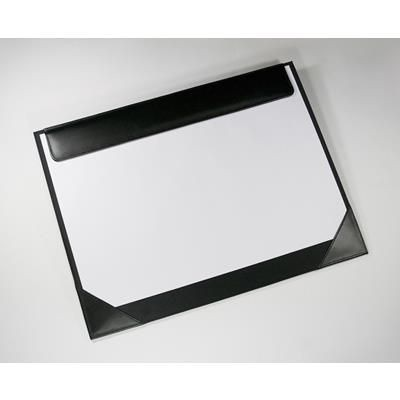MALVERN GENUINE LEATHER DESK BLOTTER in Black