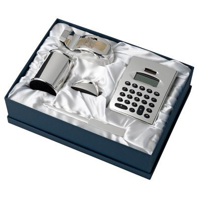 METAL DESK GIFT SET in Silver