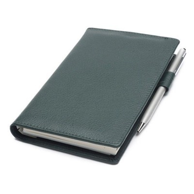 CHELSEA LEATHER DELUXE COMB BOUND POCKET NOTE BOOK WALLET